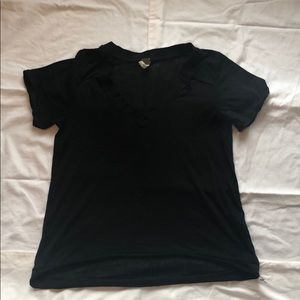 Free people black T-shirt